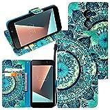 CMID Funda Smart N8, PU Cuero Libro Billetera Tapa Antigolpes Protective [Ranura para Tarjetas][Cierre magnético][Función de Soporte] Cartera Carcasa Case para Vodafone Smart N8 (5.0') (A-03)