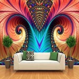 Hnsd Foto murali personalizzate Carta da parati non tessute 3D Art Abstract Pattern Colore Carving Living Room TV Sfondo Wall Decor Wallpapers 200x140CM