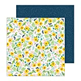 Jen Austin Hadfield 732904 Backyard Bloom Gemustertes Papier, Blumenmuster