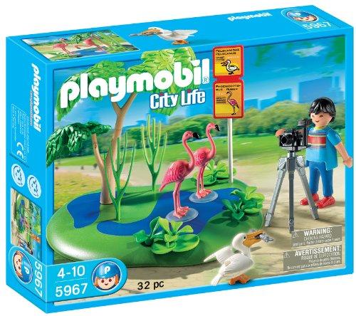 Playmobil - playmobil 5967. fotografo con fenicotteri