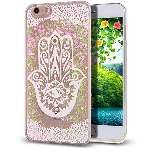 NSSTAR Coque rigide effet liquide et paillettes pour iPhone 6S (2015) et iPhone 6 (2014) Rose, plastique, Aquatic Plants, Apple iPhone 6S/6 4.7 Aquatic Plants