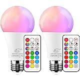 iLC 10W Lampadine Colorate Led Cambiare colore Lampadina Edison RGB E27 RGBW LED Lampadine Led a Colori Dimmerabile - 12 scel