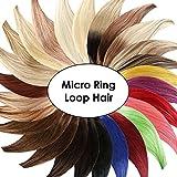 Micro-Ring / Loop Hair Extensions (#613 - HELLLICHTBLOND - 150 Strähnen - 1 g - 50 cm) 100% Echthaar Remy Haarverlängerung Micro Ring Remy Qualität by Haar-Profi