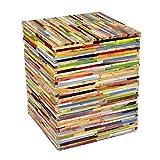 Design Beistelltisch Hocker Holz Mischholz bunt Stuhl Sitzhocker Kinder Block Blumenhocker Natur Top + Brillibrum Flyer