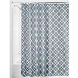 InterDesign Trellis Textil Duschvorhang | Duschabtrennung für Badewanne und Duschwanne mit Spalier-Motiv | 183 cm x 183 cm Vorhang aus Stoff | Polyester blau