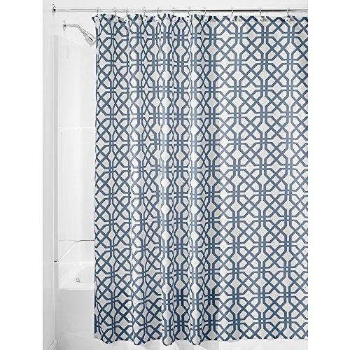 il Duschvorhang | Duschabtrennung für Badewanne und Duschwanne mit Spalier-Motiv | 183 cm x 183 cm Vorhang aus Stoff | Polyester blau ()