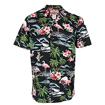 462528d72 Image Unavailable. Image not available for. Colour: Robert J. Clancey Mens Authentic  Hawaiian Flamingo Shirt ...