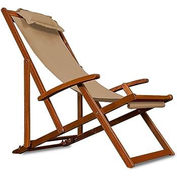 liegestuhl deckchair akazienholz klappbar atmungsaktiv reisebegleiter. Black Bedroom Furniture Sets. Home Design Ideas