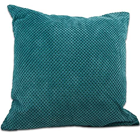 Just Contempo Chenille Cushion Cover - Teal, 22 x 22 Inches