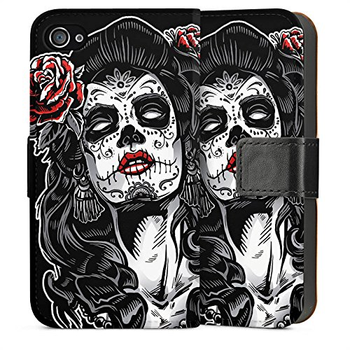 Apple iPhone 5 Housse Étui Silicone Coque Protection Zombie Catrina Halloween Sideflip Sac