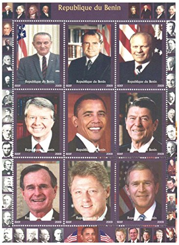 us-president-stamps-for-collectors-9-mint-stamps-of-american-presidents-never-mounted-and-never-hing