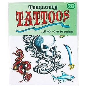 Temporary Skin Tattoos Transfers - 4 Sheets - Boys & Girls Designs (tatuajes temporales)