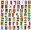 Bandierine internazionali decorative, paesi del mondo, varie bandiere nazionali 14 cm x 21 cm, per tifosi di calcio, rugby, presentazione eventi, 200 National Flags