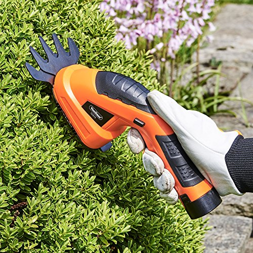 VonHaus 7.2V Li-ion 2 in 1 Cordless Grass Shear and Hedge Trimmer with Telescopic Handle & Wheel Attachment