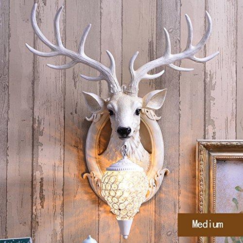 Appliques Rétro Bifurcation Creative American personnalité Industrie Couloir Chambre Chevet Salon européen Lèche-Murs (Size : M: w61*h 71cm)