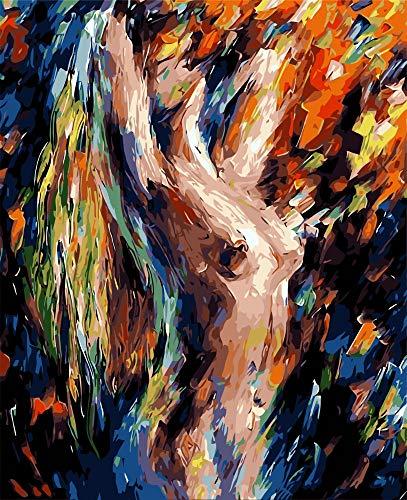 Malen Nach Zahlen Erwachsene DIY Ölgemälde Auf Leinwand Geschenke Spielzeug Gemalt Kostüm Schönheit Für Kinder Studenten Erwachsene Wand Kunstwerk Malerei by Anzahl Ohne Rahmen 16X20 Inch (Gemalt Auf Kostüm)
