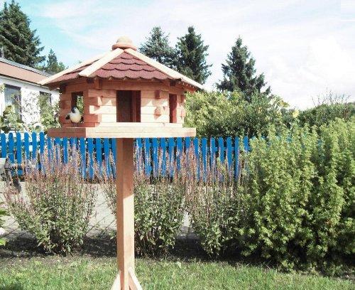 """Promadino Vogelhaus """"Knusperhäuschen"""" mit Fußkreuzständer"""