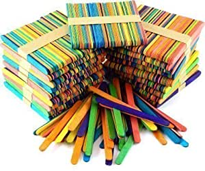 1000 Art and Craft Coloured Lollipop Sticks