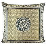 Traumkissen Dekokissen Kissenhülle Zierkissen Bodenkissen - Kissen Marrakesch - 60x60 cm blau gold Marokkanischer Mediterraner Wohnstil
