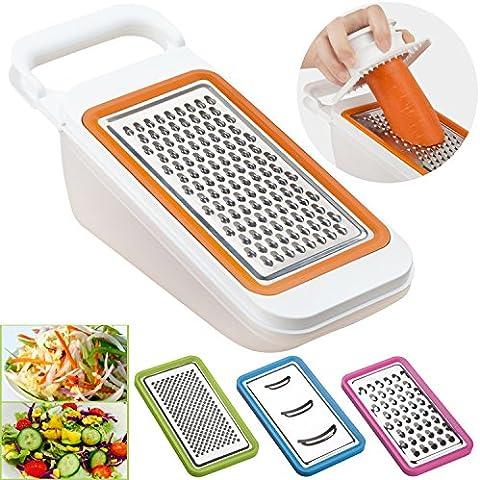 Verdure affettatrice, grattugia Set Ideale per carote, formaggio, cetriolo, cipolla,