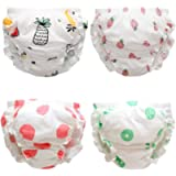 Premewish 4 Pack Baby Girls Underwear Kids Cute Cotton Bloomer Frilly Knickers Toddlers Shorts Panties Training Pants…