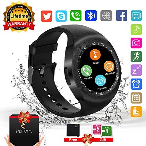 Bluetooth Smart Watch Phone Touchscreen Armbanduhr Handy-uhr Sport Smartwatch Uhr Wasserdicht Fitness Intelligente Smart Uhr Telefon Kompatible IOS Andriod Iphone X 8 7s Smartphones für Herren Damen Samsung S5 Kamera Remote