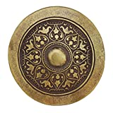 """Nickelfreie Gürtelschnalle """"Wikinger"""" in altmessing - rund - 85mm - für einen Wechselgürtel mit Riemen von ca. 4cm"""