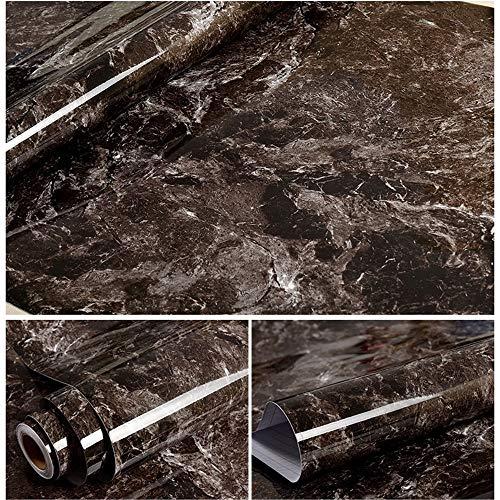 ZSLLO Moderne wasserdichte Vinyl Selbstklebende Tapete Marmor Kontakt Papier Küchenschrank Regal Schublade Liner Wandaufkleber (60 cm * 5 Mt) Wallpaper (Farbe : D) - Liner Für Schublade Papier Kommode