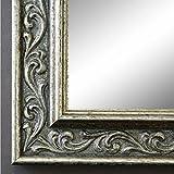 Online Galerie Bingold Spiegel Wandspiegel Badspiegel Flurspiegel Garderobenspiegel - Über 200 Größen - Verona Silber 4,4 - Außenmaß des Spiegels 50 x 60 - Wunschmaße auf Anfrage - Antik, Barock