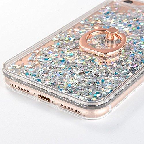 iPhone 6Plus/iPhone 6S Plus PC éclat brillant strass Coque, newstars stéréo papillon strass cristal diamant Transparent Plaqué Bumper Coque de protection pour iPhone 6Plus/iPhone 6S Plus léger coque Ring Diamonds 3