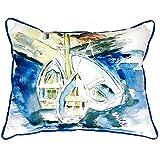 Betsy Drake SN226 Three Row Boats Pillow,,11