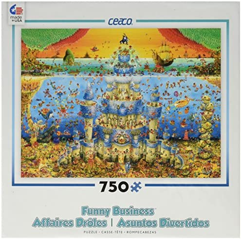 Ceaco Funny Business - - - Castle Aqua Puzzle B00SOG1VU0   La Qualité Des Produits  80b0f1