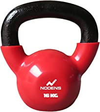 NODENS Vinyl Coated Kettlebells – Weight Available:4, 6, 8, 10, 12, 14, 16