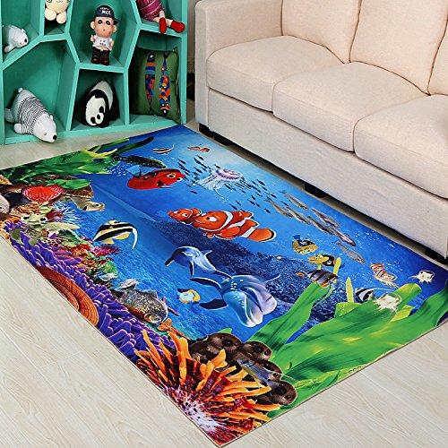 Lucky Fortress 3D Bodenmatte Wohnzimmer Sofa Couchtisch Teppich Schlafzimmer Nachttisch Teppich Eingangstür Küche Anti Slip Tür Matte 100 × 200 cm Große Bettdecke Orange Spring Blossom -