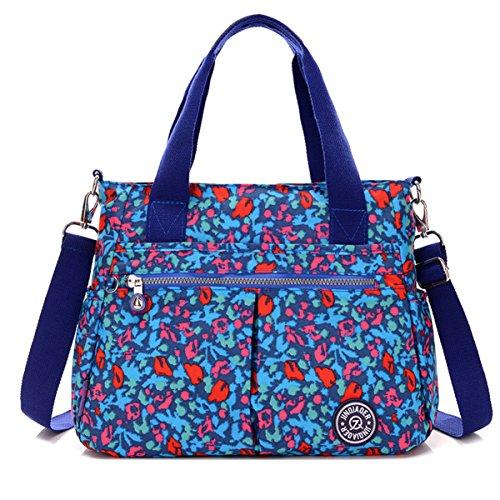 Tiny Chou wasserabweisend Nylon Handtasche Crossbody Messenger Bag mit abnehmbarer Schultergurt Colorful Camo