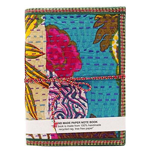 Handmade Kantha Stich-Abdeckungs-Recyclingpapier Blatt Notepad Notebook Memo Tagebuch (Stich-laptop-tasche)