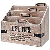 Holz Schreibtischorganizer Briefhalter Briefständer Briefablage Postablage