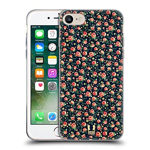 Head Case Designs Pesca Fiori Vintage Cover Morbida In Gel Per Apple iPhone 7 / iPhone 8 Corallo