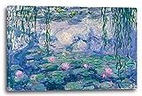 Printed Paintings Stampa su Tela (100x70cm): Claude Monet - Ninfee