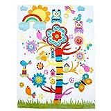 Kinder Teppich Moda Öko Tex Zauberbaum creme bunte Farben verschiedene