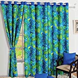 Shalinindia Colorful Cotton Window Curtains-54 X 60 Inch-Mod Floral Paisley Set Of 2 Panels