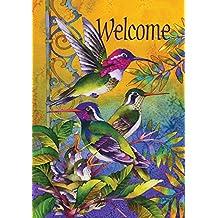 Toland Home Garden colibrí casa 12,5x 45,72cm decorativo usa-produced jardín bandera