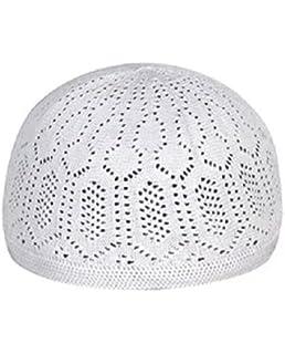 2-Piece Set Islamic Muslim Hat Skull Cap Ramadan Eid Kufi Hat Belief in Allah Namaz Beanie Embroidery Hat for Men Prayer Headware Family Gathering Political Status Political//Golden//Uniform co