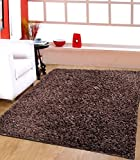 #8: Centra Home Paper Shag.. Handmade Rug Carpet Make You feel Elegance, Soft & Rich 3.6x5.6ft Brown