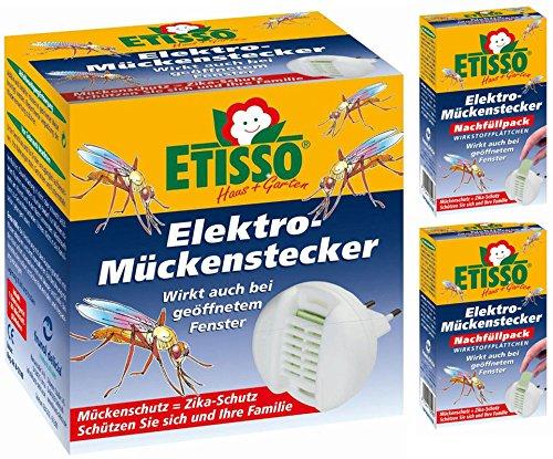 Delicia® 0726-770-1 Elektro-Mückenstecker (inkl. 20 Plättchen) + 40 Nachfüllplättchen