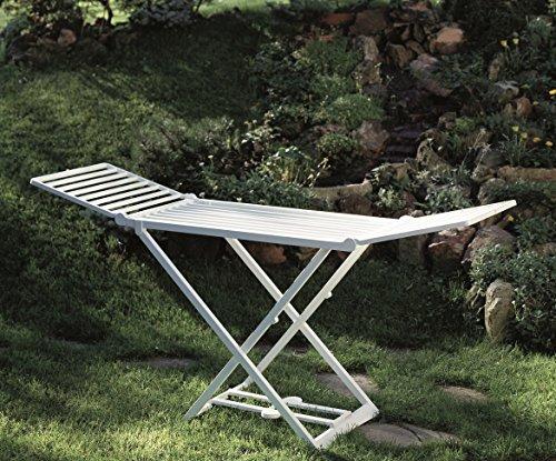 IPAE XL Kunststoff Wäscheständer extra stabil - absolut wetterfest - 20 m Trockenlänge
