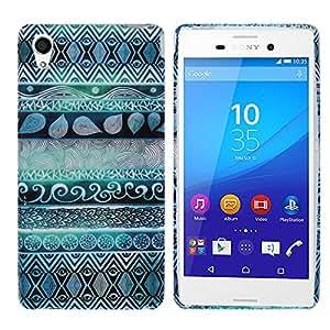 Hunye Custodia in TPU Gomma per Sony Xperia M4 Aqua Case Gel Indiano Cover