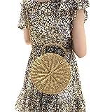 Runde Stroh Strandtasche Sommer Vintage Handarbeit Umhängetasche Kreis Rattan Tasche böhmische Umhängetasche für Frauen, Handmade, Korbtasche, Ata Bag, Bali Bag