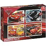 Jumbo Spiele 19615 - Disney Cars 3 - 4in1 Puzzle Pack - 35/50/70/100 Teil
