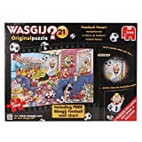 Jumbo 17408 - Wasgij Original 21 - Fußball-Fieber Puzzle, 2 x 1000 Teile